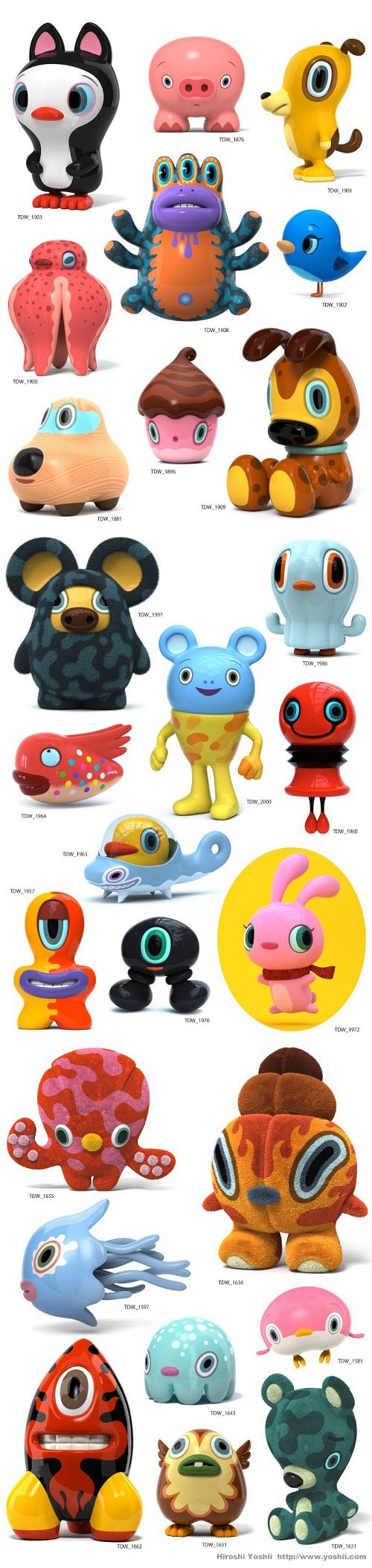 Kawaii toys collection- Hiroshi Yoshii. Need these in my life