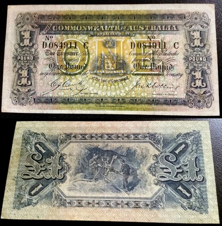 For the serious collector; rare 1918 Commonwealth of Australia one pound note in very fine condition. This is a great opportunity to make an excellent investment