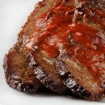 Atkins Texas Barbecued Beef Brisket. Only 2.7g Net Carbs and PACKED with flavor.