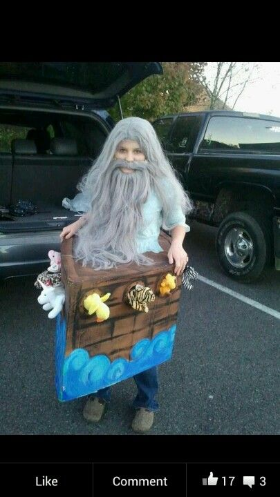 "My sister in the costume i made her. She said "" i want to be noahs ark"" i was like "" lets make this happen """