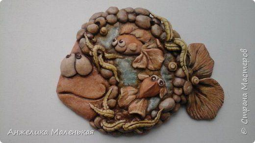 Картина панно рисунок Лепка Рыбы подвесные Тесто соленое фото 1