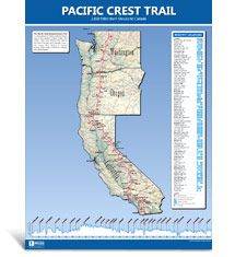 Pacific Crest Trail Map | Blackwoods Press