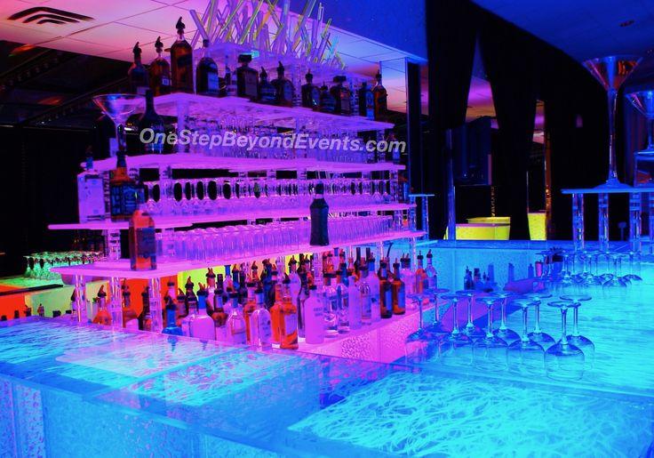 Adult led glow parties elegant 4x4 cocktail highboy