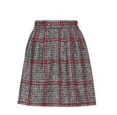 Tweed tartan skirt by Dolce & Gabbana