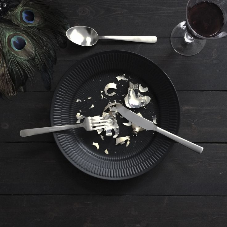 Kay Bojesen Grand Prix cutlery in a Christmas table setting. Danish design.