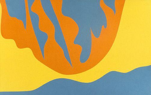 Rétention Bleu-vert Acrylique sur toile, 1967 81 x 100 cm Vendu / Sold