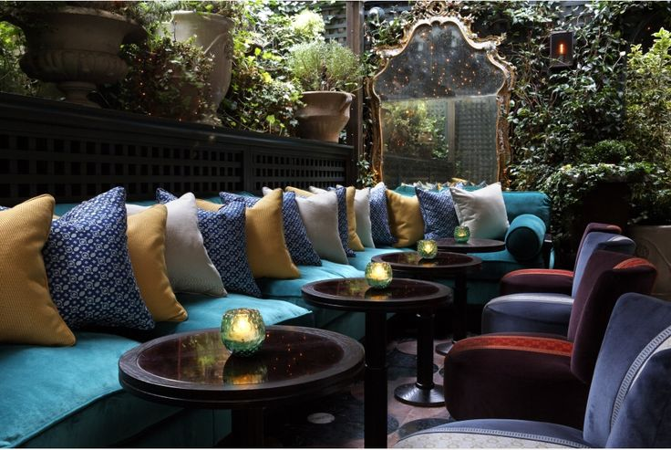Terrace Seating Area  by Martin Brudnizki Design Studio | Annabel's London
