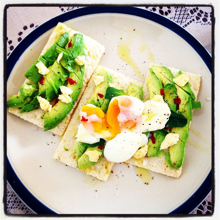 Saturday morning brunch @ home :-) Avocado on Cruskits w Mint, Chilli Brie, Lemon Infused Olive Oil and a Soft Boiled Egg #mealforameal #brunchathome #brunch #cruskits #avocado #chilli #mint #lemon #oliveoil #brie #tasty #softboiledegg #egg #instafood #greenyfood #pepper