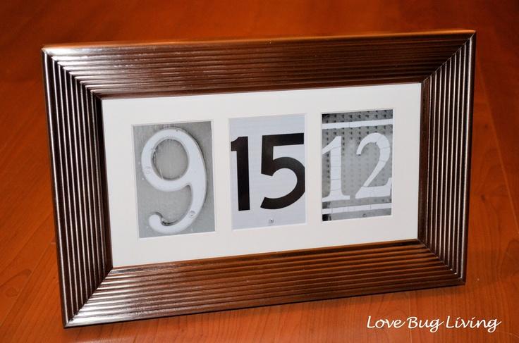 Wedding Date Memory Frame - Wedding Shower Gift