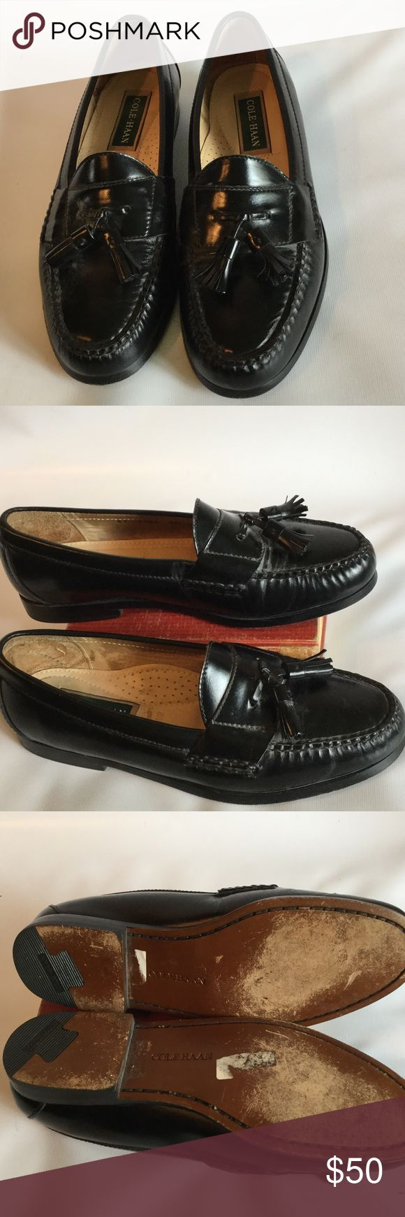 Cole Haan leather tassel shoes🎈sale🎈 Leather tassel dress shoes from Cole Haan,  in excellent condition Cole Haan Shoes Loafers & Slip-Ons