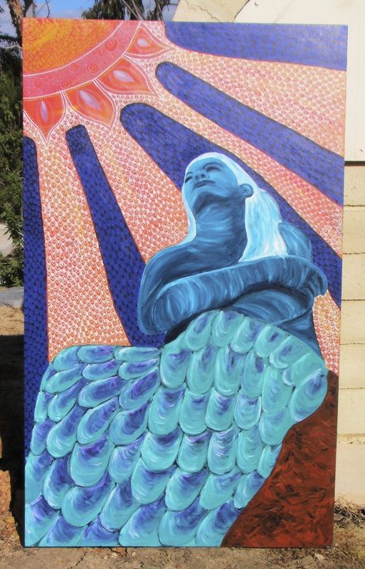 Del Mar - Goddess of the Sea. A vibrant piece for a seaside or lakeside home or cottage. For more artwork check out www.artuition.net