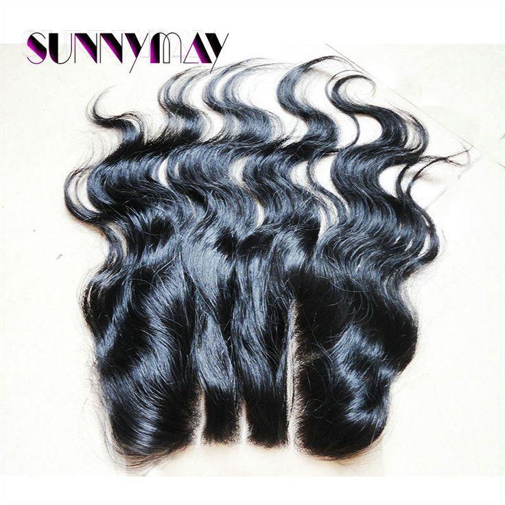 8А Sunnymay Бразильский Девственные Волосы Невидимой База Объемная Волна Кружева Закрытие 5x5 Отбеленные Узлы Из Трех Частей Закрытие Человека Закрытие волос