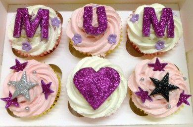 Sparkling Mothers Day Cupcakes
