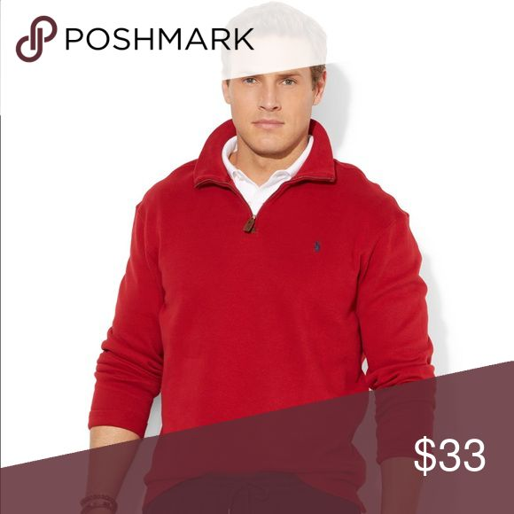 🚫SOLD🚫New Ralph Lauren Men's Red Sweater NWT Men's red sweater made of 100% cashmere. Wrap yourself warmth & luxury that only cashmere can offer. Sweaters Zip Up