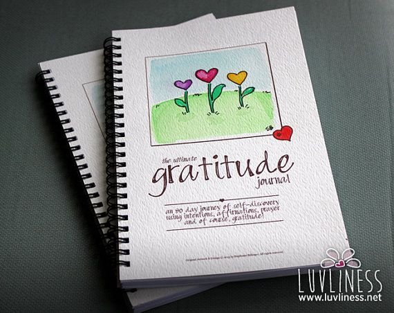 Loving Blooms Gratitude Journal Hand Painted 80 paged by luvliness