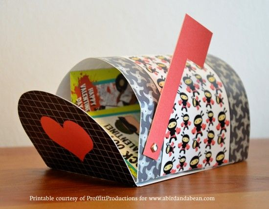 Free Printable Valentine's Mailboxes~  Two versions that any child would feel proud to use!