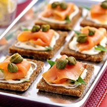 hors d'oeuvre! Smoked Salmon Canapes - 1point!!!