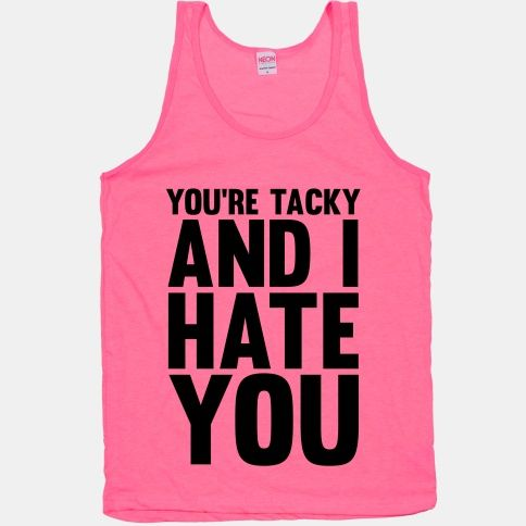 id wear it. if you know me you know this is my motto!