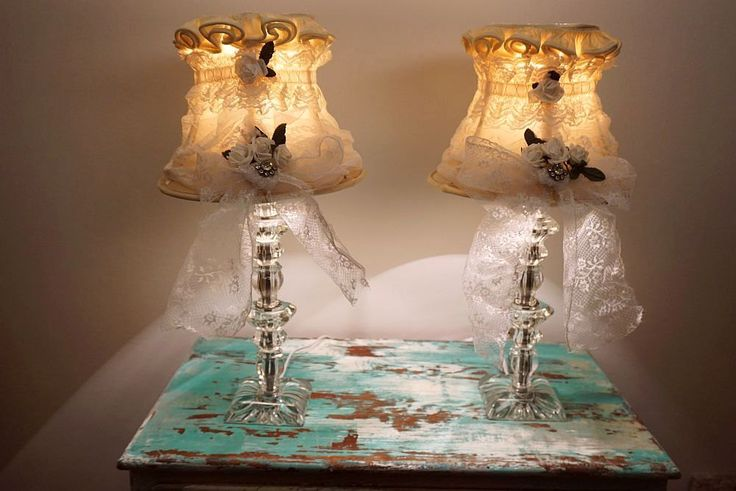 Lámparas de mesa de cristal set francesa por AnitaSperoDesign