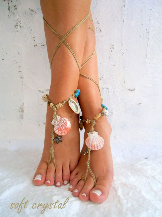Barefoot Sandals Barefoot Beach Jewelry barefoot sandal, Hippie Sandals Foot Jewelry Toe Thong | See more about Barefoot, Beach Jewelry and Sandals.