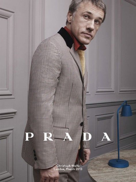 Christoph Waltz for Prada Fall Water 2013 Campaign