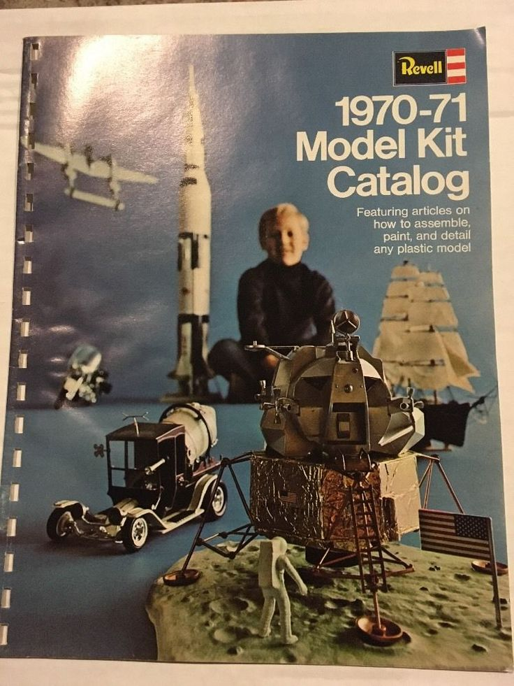 Revell Model Kit Catalog 1970-71 32 Color Pages of Cars, Military Ships, Planes