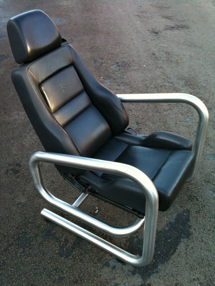 Converting car seats to office chairs Мебель из