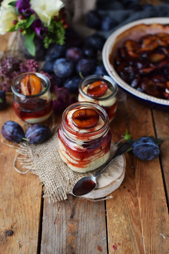 Griesspudding mit Pflaumenkompott - Semolina Custard with plum compote | Das Knusperstübchen