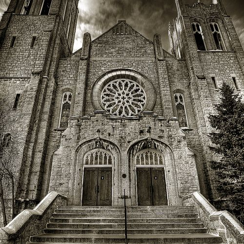 Westminster United Church, One of my favourite buildings in Winnipeg. It's quite a sight, especially with the Rose window lit up. (Bryan Scott)