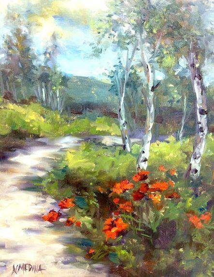 Mountain Blossom Poppies - Nancy Medina.