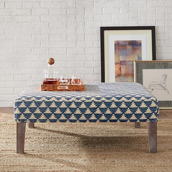 Lira Ottoman - Square Ottoman - Upholstered Ottoman - Modern Ottoman | HomeDecorators.com