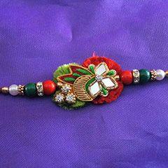 Colorful Zardosi Rakhi