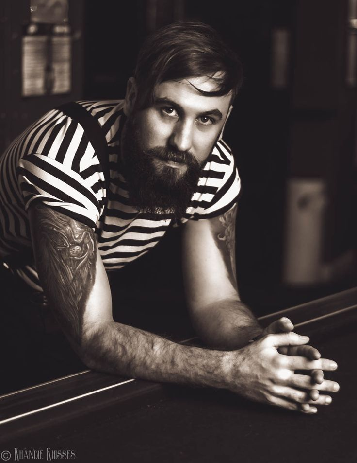 tattooed male portrait. Male model. 'Paul'. copyright Khandie Photography