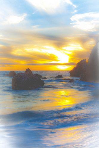 AMZING SUNSET beach wave sky | von JJDPhotography
