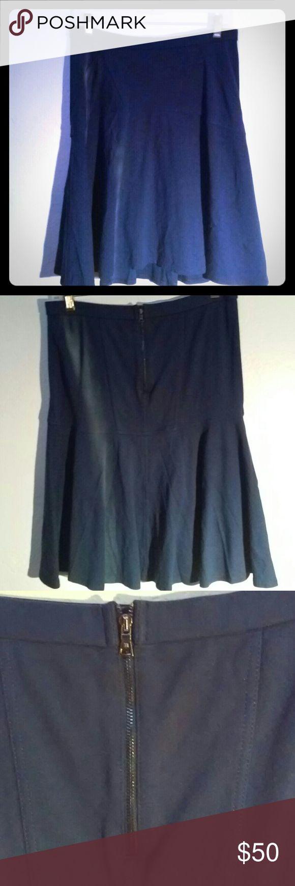 bcbg Max Azria royal blue knit mid length skirt Body hugging fit & flare styling. Like new. Smoke free home BCBGMaxAzria Skirts Midi