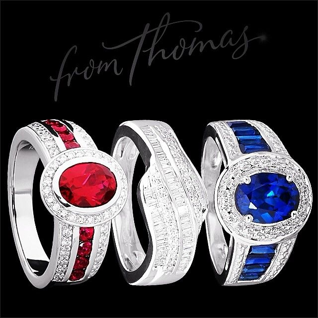 4th of July, sparkle style - stunning ruby, diamond and sapphire jewellery available #fromthomas in store or online www.thomasjewellers.com.au #thomasjewellers #ilovethomas