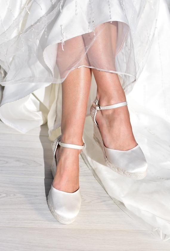 Paris Bridal Wedge Espadrilles Wedding Shoes Bridal Boho
