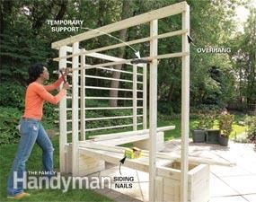 How to Build an Arbor with Built-in Benches | The Family Handyman