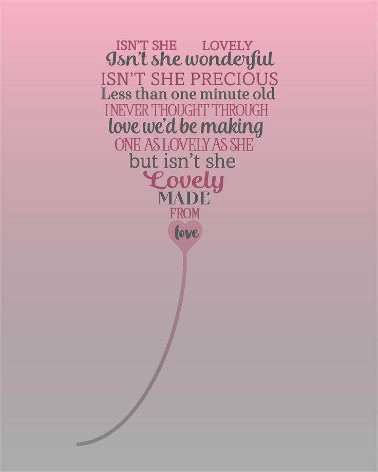 Isn't She Lovely | Stevie Wonder - Song Lyrics Artwork