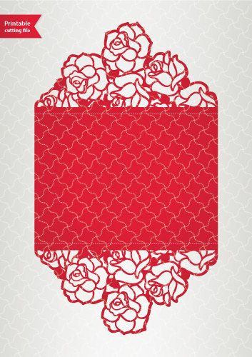 Digital template laser cut wedding invitation by LaserCutLace