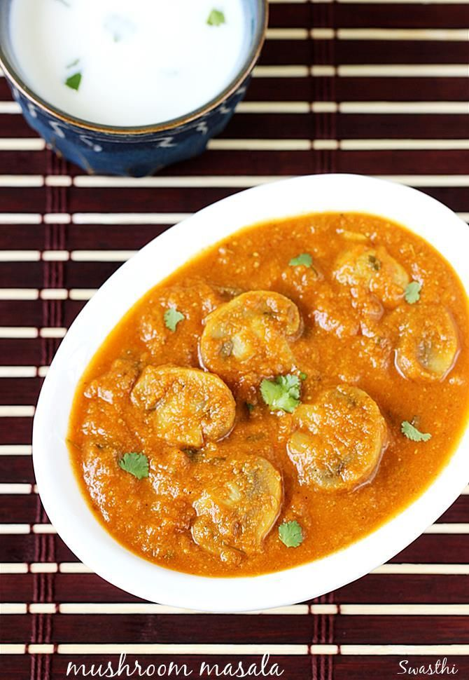 Mushroom masala or mushroom gravy recipe to make a restaurant style curry. This is one of our favorite mushroom recipes at home to enjoy with rice