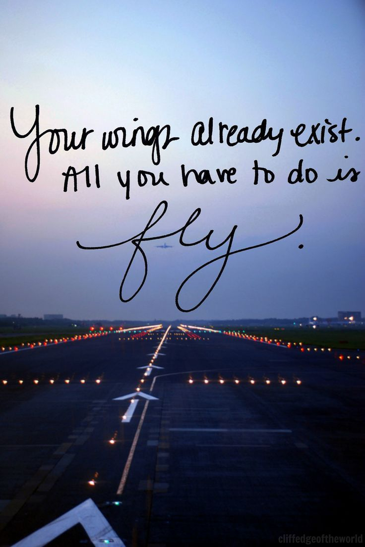 Your wings already exist. All you have to do is #FLY #away | #travel #quotes #reisen #urlaub #justawaycom #JUSTAWAY