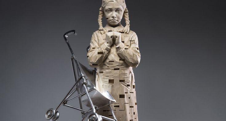 Wooden Sculptures by Gehard Demetz   Oh Marvelous!