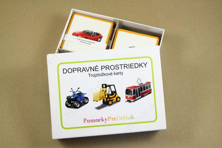 Dopravné prostriedky, 3-zložkové karty  #ucebnepomocky #didaktickehracky #homeschooling #domacevzdelavanie #pomockypredeti #teachingaids #montessori #trojzlozkovekarty #threepartcards #vehiclecards