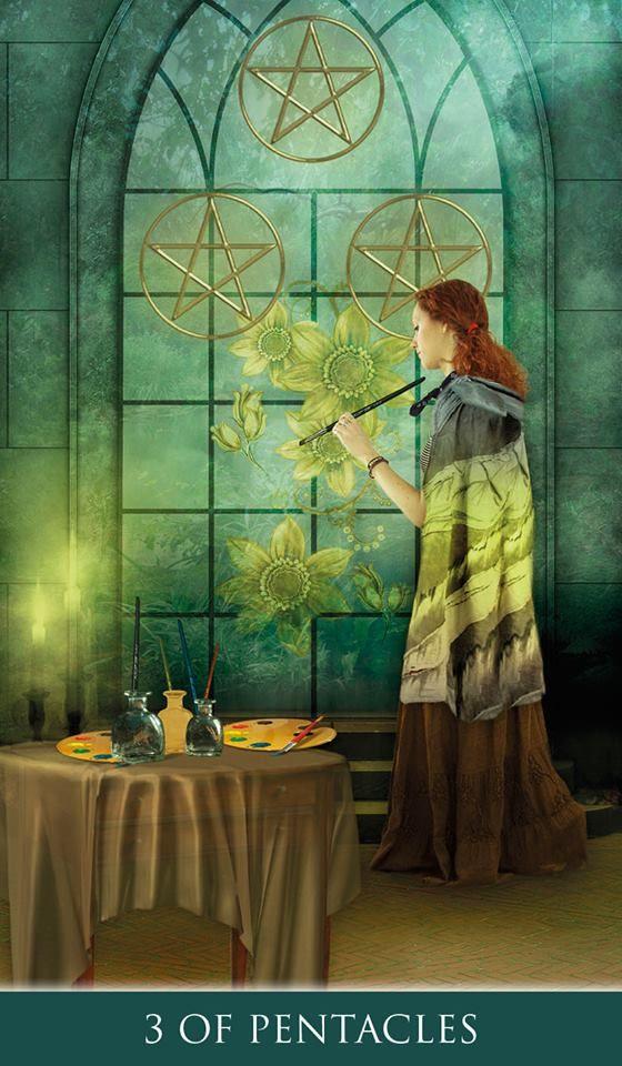 Thelema Tarot - Three of Pentacles More