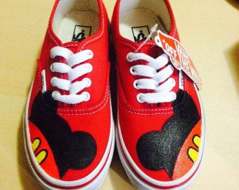 Mickey & Minnie Adult Custom VANS Shoes by CarcamoCustoms on Etsy