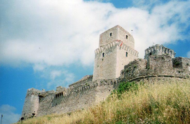 The castle that presides over Assisi, Italy