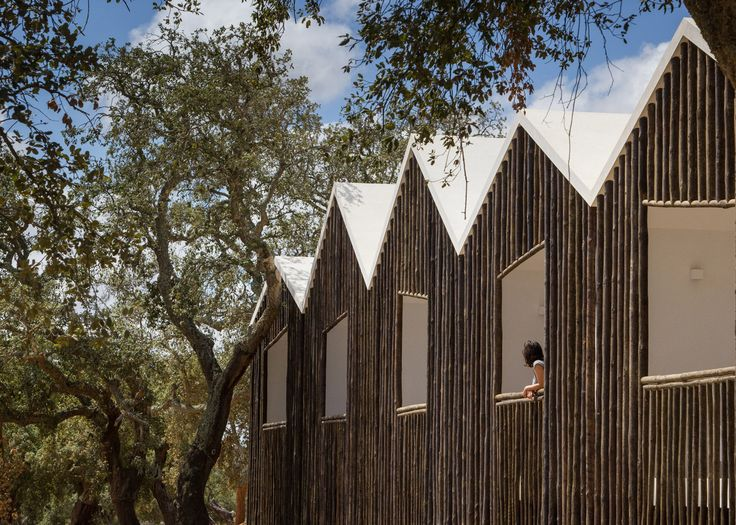 Miguel Correia's Alentejo Country Hotel has log facades and cork trees surrounding