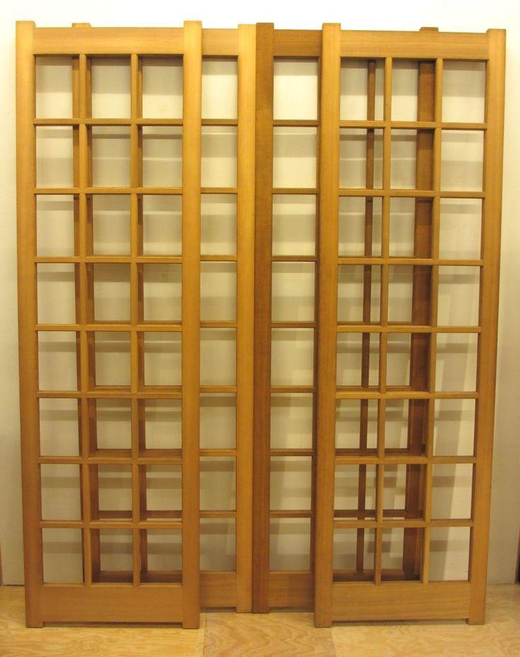 Original japanische antike unbenutzte Schibetür 4er-set / 1926-1989 Shōwa Zeit