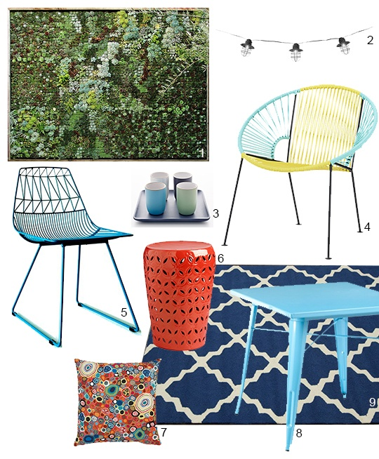 A Colorfully Perfect Patio (or Porch) For Summer 2013